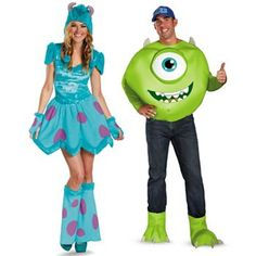 Disney/Pixar Monsters University Mike and Sulley Couple Costumes