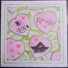 Quality Handmade 8x8 My Love Forever Card  by CraftyMrsPanky