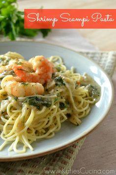 Shrimp Scampi Pasta | KatiesCucina.com