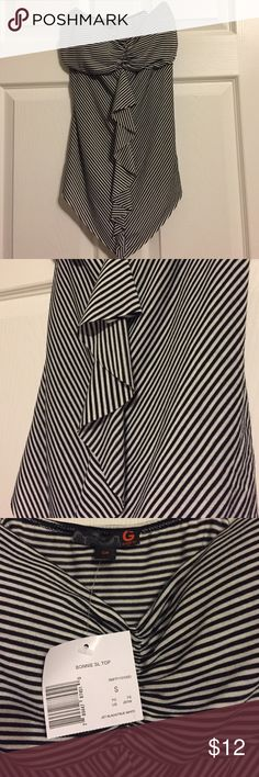G by Guess Sexy Black & White Striped Tube Top Padded. Stretchy. Brand new with tags G by Guess Tops Tank Tops