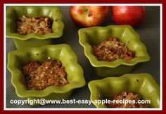 Use Ramekin Bowls for Apple CRISP!