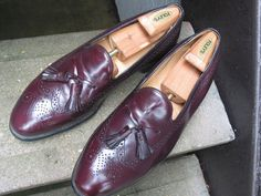 Johnston & Murphy Optima Used Burgundy Leather Dress Loafers 13 D