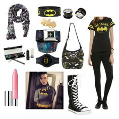 """""""Batman day with Andy Biersack"""" by dannytuf ❤ liked on Polyvore featuring Clinique and Noir"""