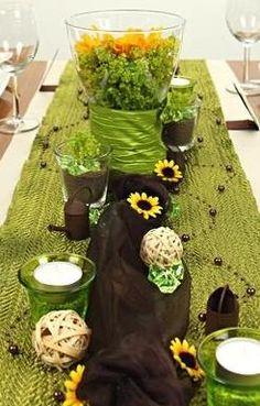 Tischdeko grün rosa, Tischdekoration selbst gestalten. Hier kannst ...