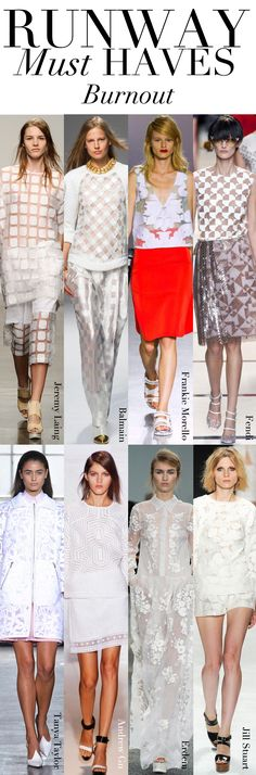 Trend Council: Runway Must Haves BURNOUT
