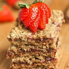 On the blog today... Strawberry Crumb Bars!