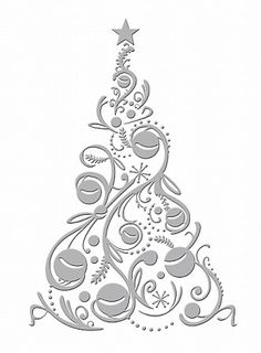 !! idea.....Couture Creations-Embossing Folder-Bauble Tree