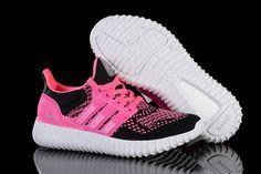 1e207742b4098 Authentique WMNS Adidas Yeezy Ultra Boost 2016 Pink Flash Black Noir White  blanc