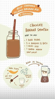 Recipe Drawing, Fast Food, Food Drawing, Aesthetic Food, Diy Food, Healthy Drinks, Smoothie Recipes, Nutella, Food To Make