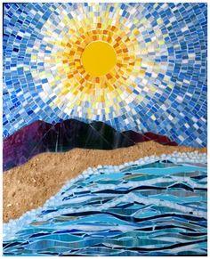 Sunny  Glass, sand, mosaics