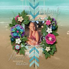 Girls At The Beach by Day Dreams 'n Designs