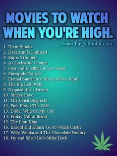.movies to watch when you're high