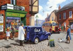 The Sweet Shop by Kevin Walsh 1000 piece jigsaw puzzle Canada | CanadaPuzzles.ca