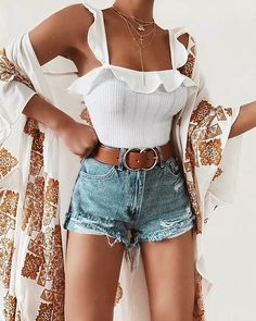 Cute Casual Modest Summer Outfit Ideas for Teens Girls for Women - Lindas ideas de trajes de verano para adolescentes, niñas o mujeres - www. outfits style summer teenage frauen sommer for teens outfits Modest Summer Outfits, Spring Outfits, Cool Outfits, Casual Outfits, Outfit Summer, Casual Summer, Summer Outfits For Vacation, Summer Clothes For Women, Summer Outfits For Teen Girls Hipster