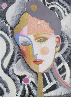 Yvette Coppersmith Head of a Woman with Gold oil on linen 38cm x 28cm 2015 Australian Artists, Year 8, Art Images, Mixed Media Art, Watercolor Paintings, Art Pictures, Watercolour Paintings, New Media Art, Watercolors