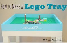 Easy DIY Lego Tray- this is so easy to make and just a few dollars for materials.