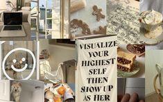 beige aesthetic collage macbook wallpaper desktop screensaver beige milk tea aesthetic