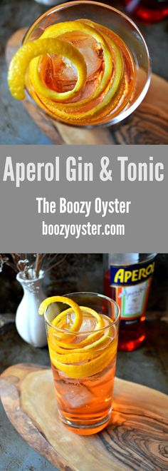 This gin and tonic is refreshing, light, and super easy to make. It gets some bitterness from Aperol, an Italian aperitif. #gin #gincocktail #ginandtonic