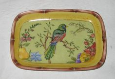 PEQUEÑA FUENTE Minnie, Painting Inspiration, Dinnerware, Tray, Birds, Wood, Glass, Home Decor, Dishes