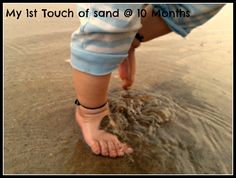 It was the 1st time my daughters feet touched sand. @ Guhagaar, Maharashtra, India