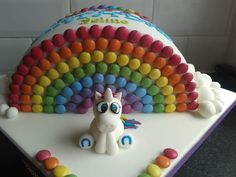 rainbow unicorn cake. For at home. I could do this!