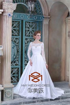 latest design with long sleeve off shoudler with wedding dress with french lace. So beautiful so attractive so pretty. http://hmy.en.alibaba.com http://china-wedding-dress-manufacturer.com