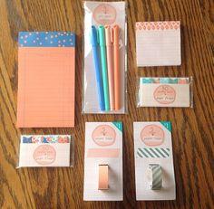 Target planner stickynotepad pens stamps ink onespot onestop envelopes ribbon washi tape