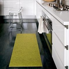 Runner rug for kitchen. Different color probably, just like the concept