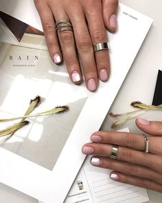 #nude #classic #nails