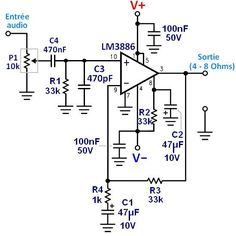 ampli lm3886 schema ultra simple 0