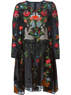 Vivetta embroidered sheer dress