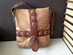 Vtg Distressed // Artisan Handcrafted Leather by JansVintageStuff, $112.00