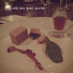 Foie - Sous vide foie gras terrine w/ apple and riesling jelly #calgary #yyc #yycfood