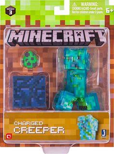 Jazwares - Minecraft Series 3 Figure, Styles May Vary Minecraft Box, Minecraft Mini Figures, Minecraft Video Games, Minecraft Crafts, Minecraft Bedroom Decor, Lego Super Mario, Cool Pokemon Cards, Minecraft Birthday Party, Mini Games