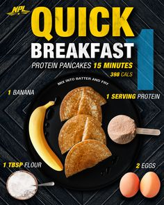 A quick protein pancake breakfast that all you have to do is mix! Pancake Breakfast, Protein Breakfast, Best Workout Supplements, Natural Testosterone, Muscle Recovery, Protein Pancakes, Sports Nutrition, Nutritional Supplements, Health Facts