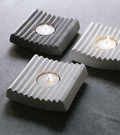 Concrete tealight holder | Concrete product design | Cement | design | Beton design | Betonlook | www.eurocol.com