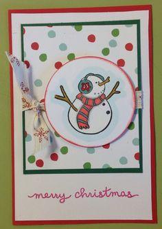 Kristina lleva haciendo esto desde hace un montón de años. Prepara sus series de Christmas cards.