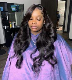 Baddie Hairstyles, Pretty Hairstyles, Hairstyle Ideas, Bangs Hairstyle, Short Hairstyle, Prom Hairstyles, Cute Weave Hairstyles, Kawaii Hairstyles, School Hairstyles