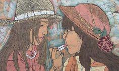 Cover Girls Batik Giclee Print by Terri Haugen by TerriHaugenArt, $75.00