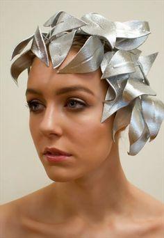 Bespoke Silver Leaf Fascinator/Headpiece