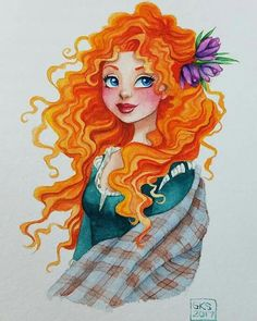 She and Aurora will be up in the shop shortly! Disney Princesses And Princes, Disney Princess Art, Disney Nerd, Disney Fan Art, Brave Princess, Disney Style, Disney And Dreamworks, Disney Pixar, Disney Characters
