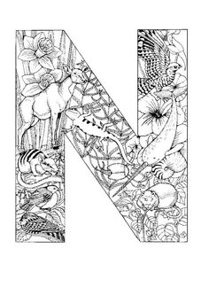 coloring page Alphabet animals on Kids-n-Fun. Coloring pages of Alphabet animals on Kids-n-Fun. More than coloring pages. At Kids-n-Fun you will always find the nicest coloring pages first! Coloring Letters, Alphabet Coloring Pages, Free Printable Coloring Pages, Coloring Book Pages, Coloring Pages For Kids, Coloring Sheets, Free Coloring, Animal Alphabet, Alphabet Letters To Print