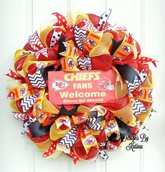 Kansas City Chiefs Wreath Kansas City Chiefs by DesignsByKatina