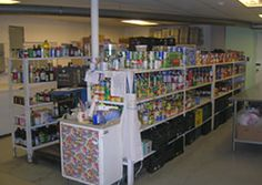 The food storage area in our food pantry