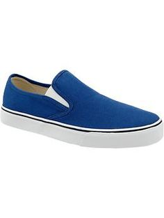 Mens Canvas Slip-Ons