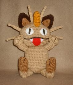 Meowth pokemon, other pokemon, mario brother crochet patterns free