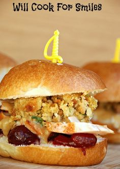 Thanksgiving Leftovers Sliders - Will Cook For Smiles