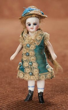 At Play in a Field of Dolls (Part 1 of 2-Vol set): 50 Petite French All-Bisque Mignonette with Original Costume
