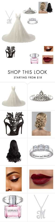 """""""Mysteria Wedding"""" by bellalestrange49 ❤ liked on Polyvore featuring 1928, Giuseppe Zanotti and Versace"""