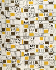 Fabric designed by Terence Conran 1951, for David Whitehead Ltd. via V&A
